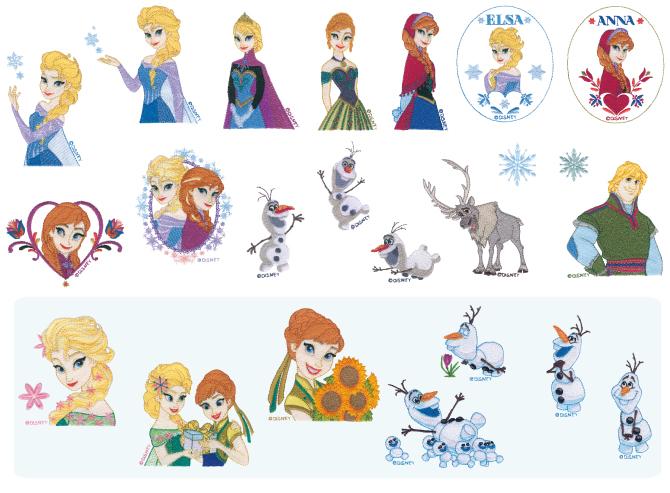 アナと雪の女王 刺しゅうカードusbメモリー紹介 刺しゅう用ミシン